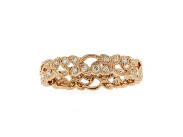 18ct Rose Gold Daisy Chain Band