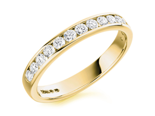 9ct Gold Diamond Channel Set Eternity Ring
