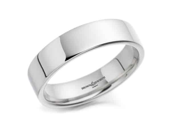 Bacchus Medium Flat Court Top Wedding Ring