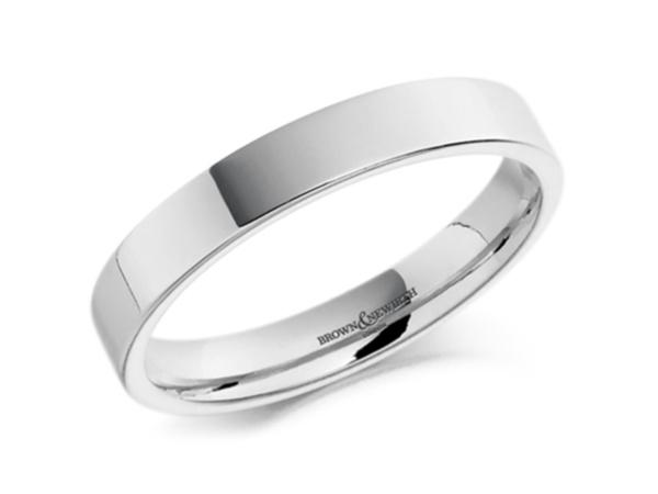 Bacchus Medium Flat Court Top Wedding Ring2