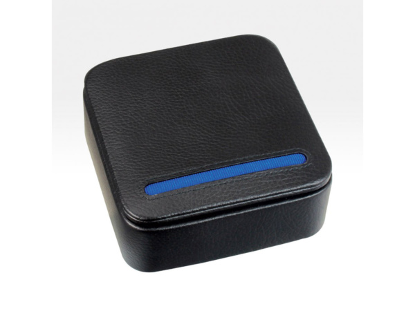 Black & Blue Travel Cufflink Box