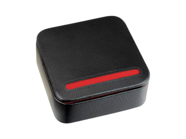 Black & Red Travel Cufflink Box