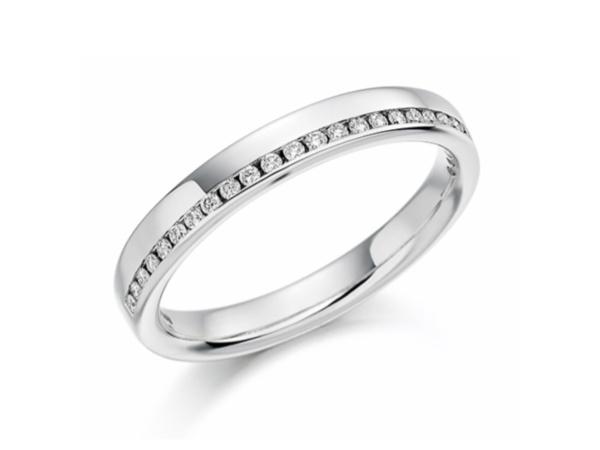 Brilliant Cut Diamond Off Center Ring