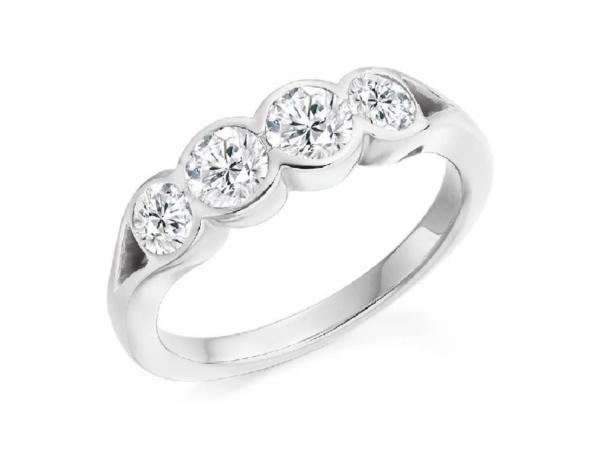 Four Stone Brilliant Cut Diamond Ring