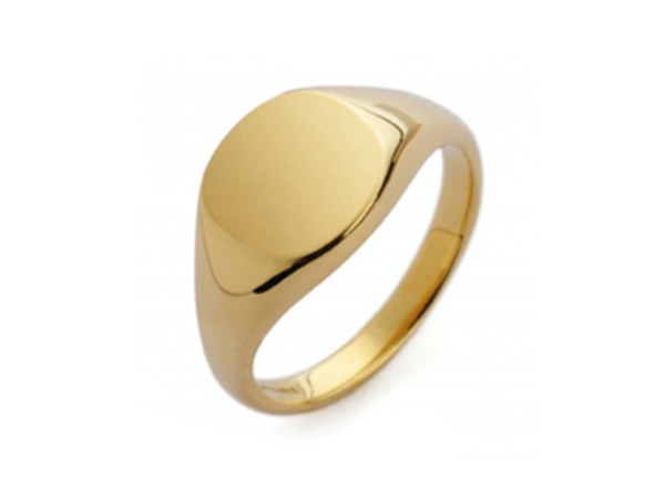 Gents Gold Cushion Signet Ring