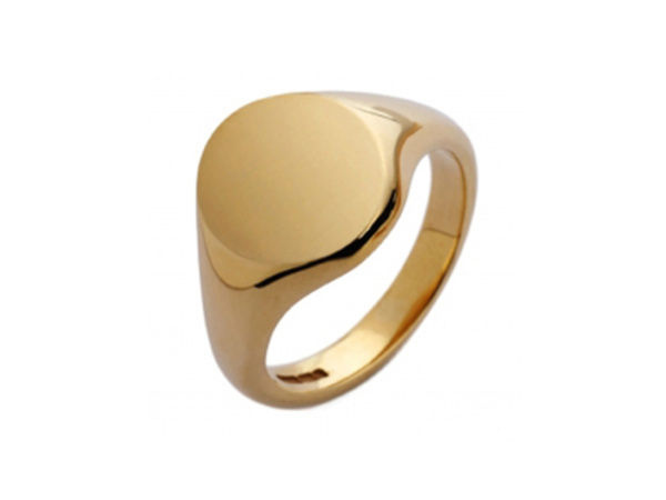 Gents Gold Oval Signet Ring