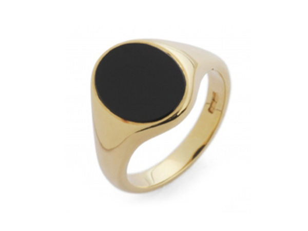 Gents Oval Onyx Signet Ring