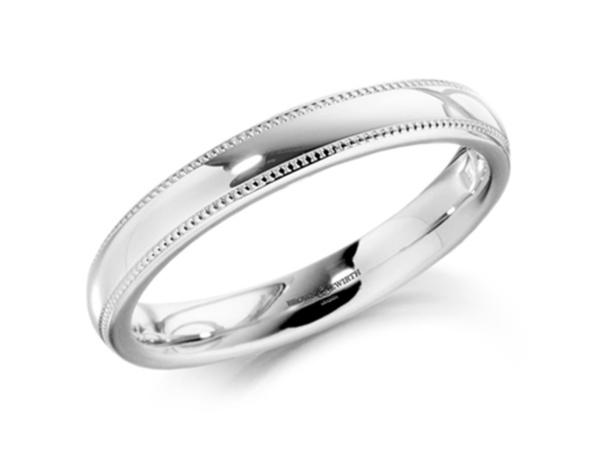 Ladies Grain Edge Wedding Ring