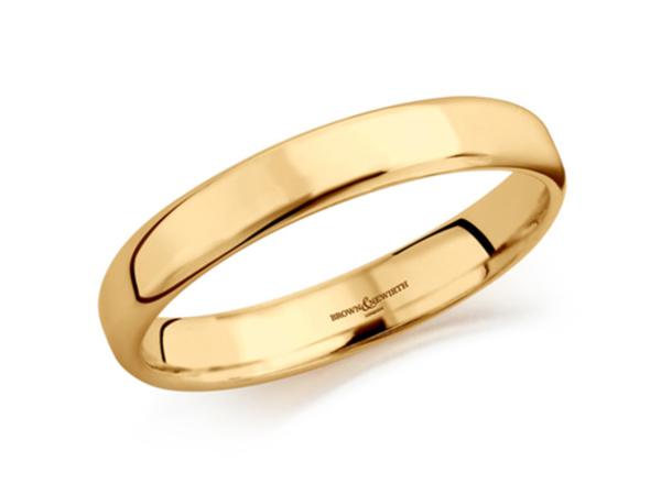 Perpetual Flat D, Soft Court Wedding Ring