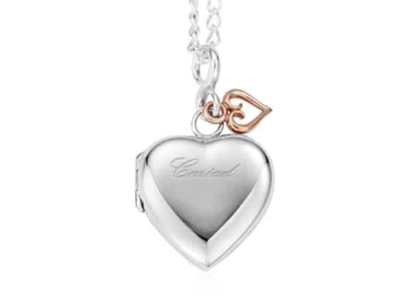 Silver Cariad Locket Necklace