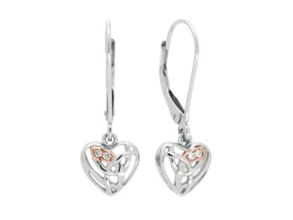 Silver Eternal Love Earrings