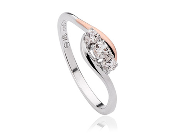 Silver Past Present Future Ring