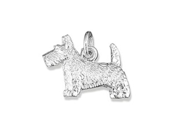 Silver Scottie Dog Charm