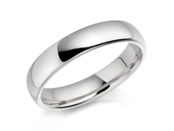 Sleek Medium Court Wedding Ring